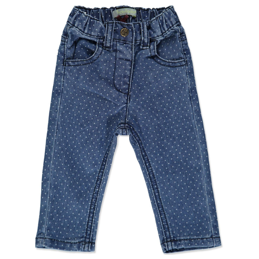 TRICKY TRACKS Girls Mini Jean, bleu