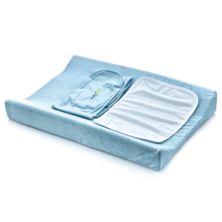 babyJem Matelas à langer à bordure, fonction emmaillotage, bleu 50x70 cm