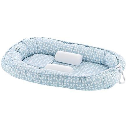 babyJem Baby hnízdo s boční a hlavovou ochranou modré