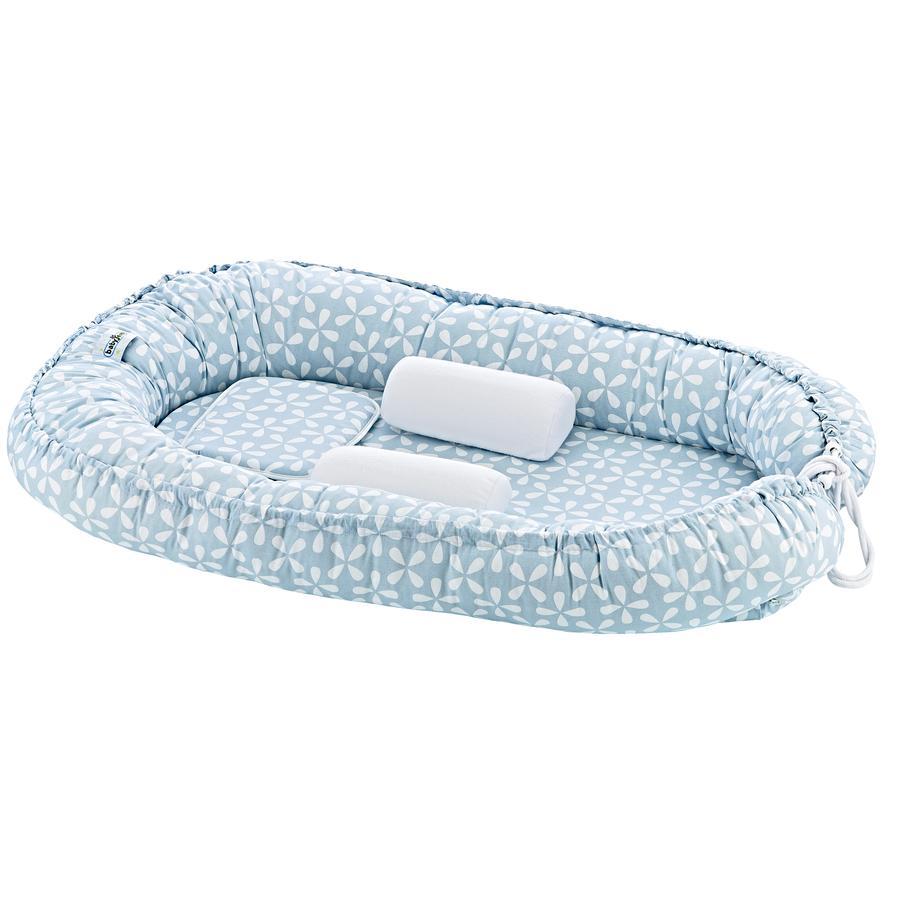 babyJem Baby Nestchen mit Seiten- und Kopfschutz blue