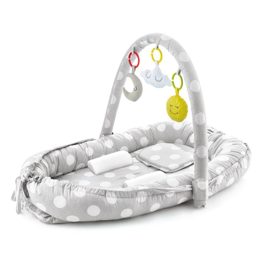 babyJem Vauvapesä Baby, sis. sivutuet, päätuen ja lelukaaren harmaa