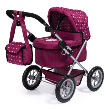 BAYER DESIGN Poppenwagen Trendy bordeaux