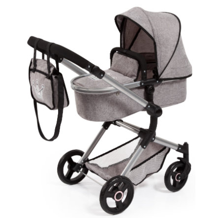 bayer Design Combi Poppenwagen Vario grijs