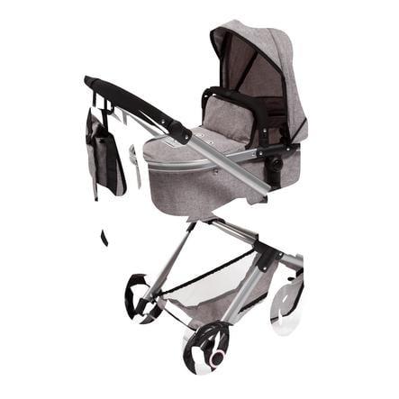 bayer Design Kombi-Puppenwagen Vario, grau