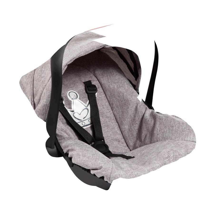 bayer Design Fotelik samochodowy dla lalek z daszkiem, grey