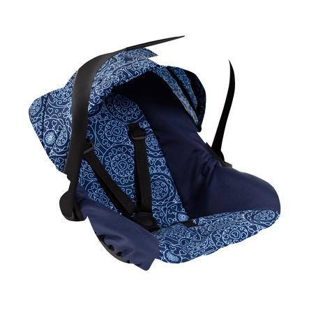 bayer Design Puppen-Autositz mit Dach blau mit Muster