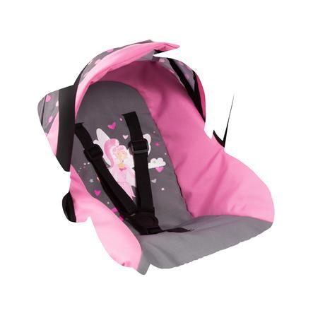 bayer Design Doll bilstol med tak, rosa / rosa