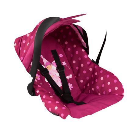bayer Design Puppen-Autositz mit Dach, pink mit Punkten und Fee