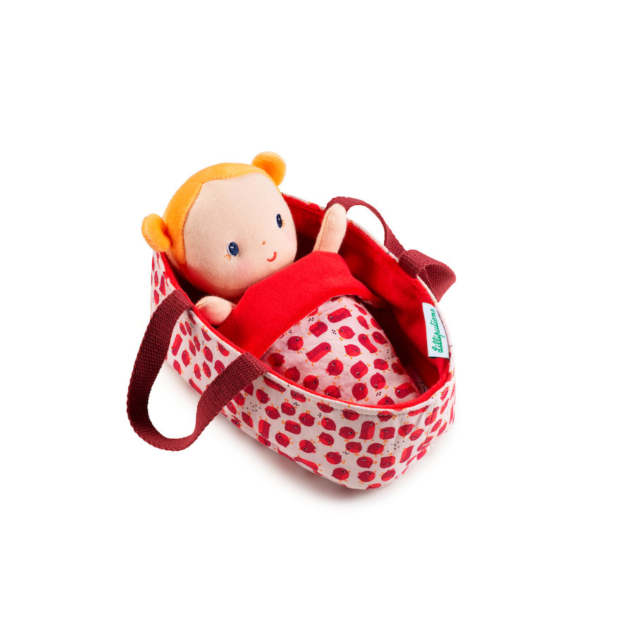 Lilliputiens Babypuppe mit Tragekorb Agathe
