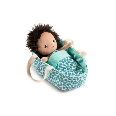 Lilliputiens Babypuppe mit Tragekorb Ari
