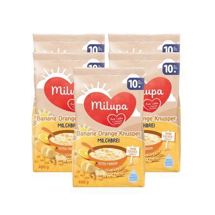 Milupa Milchbrei Guten Morgen Banane Orange Knusperkorn 5 X 400 G Ab Dem 10 Monat