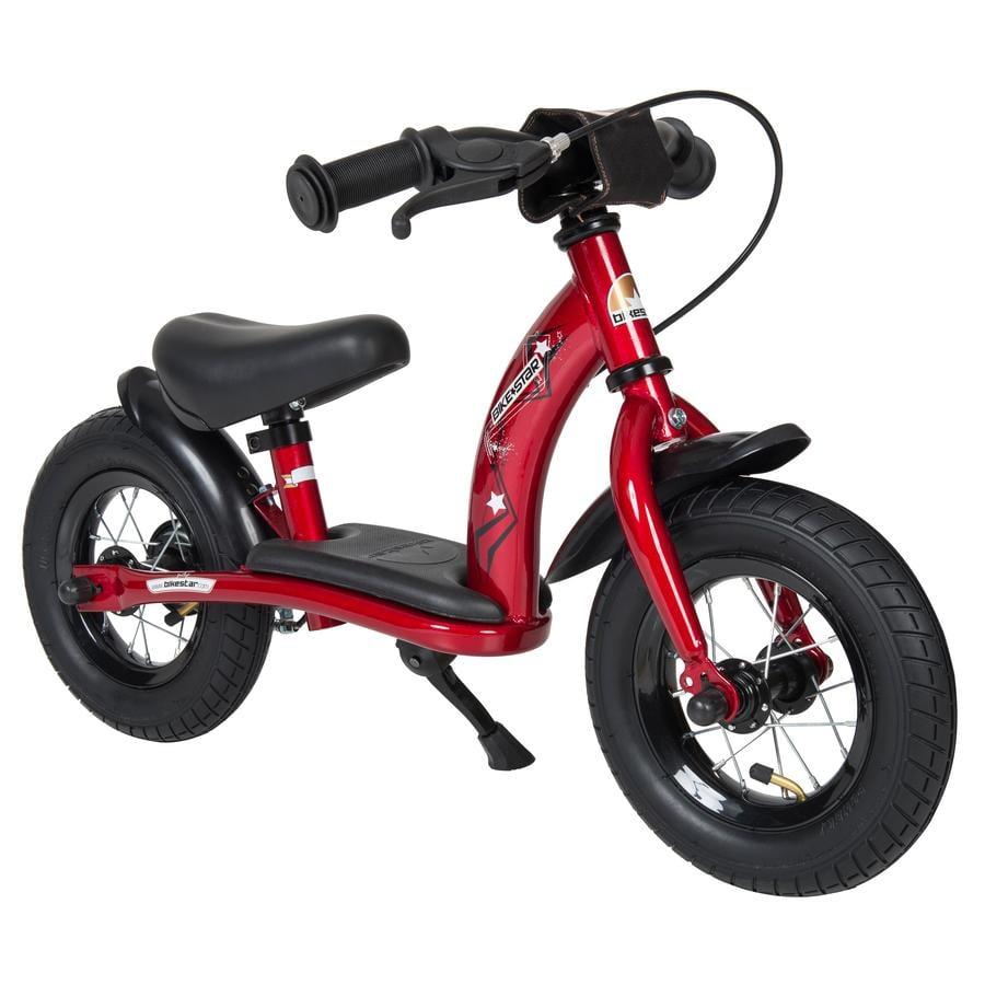 """bikestar barnas 10 """"klasse ic gangsykkel hjerteslag rød"""