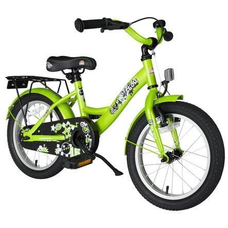"bikestar Premium Bicicleta para niños 16"" Class ic Verde brillante"