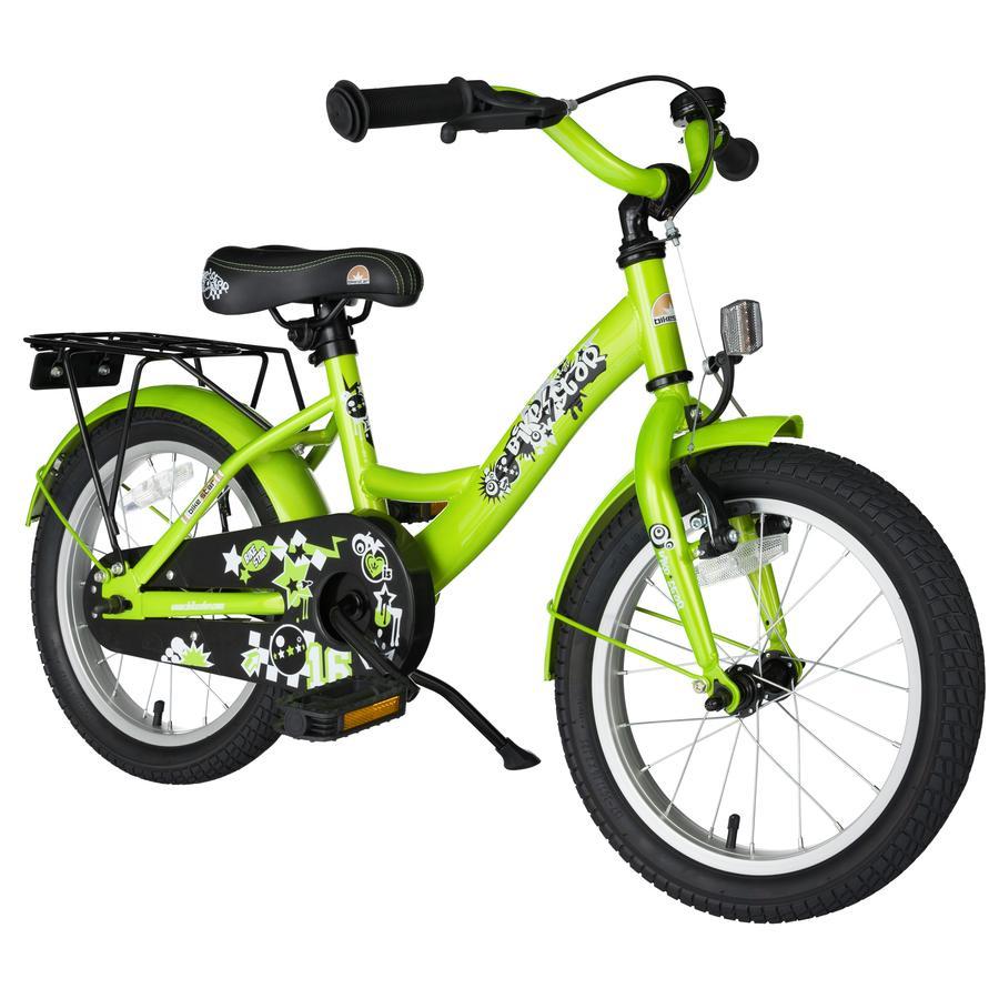 bikestar® Vélo enfant premium 16 pouces Classic vert brillant