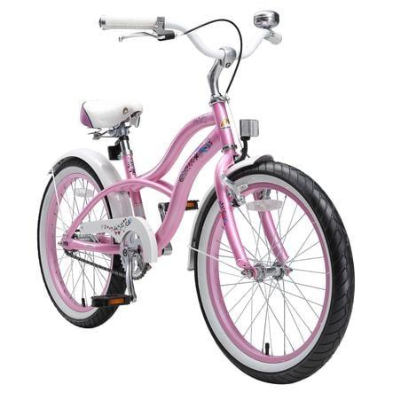 """bikestar Fiets 20"""" Cruiser Glamour Pink"""