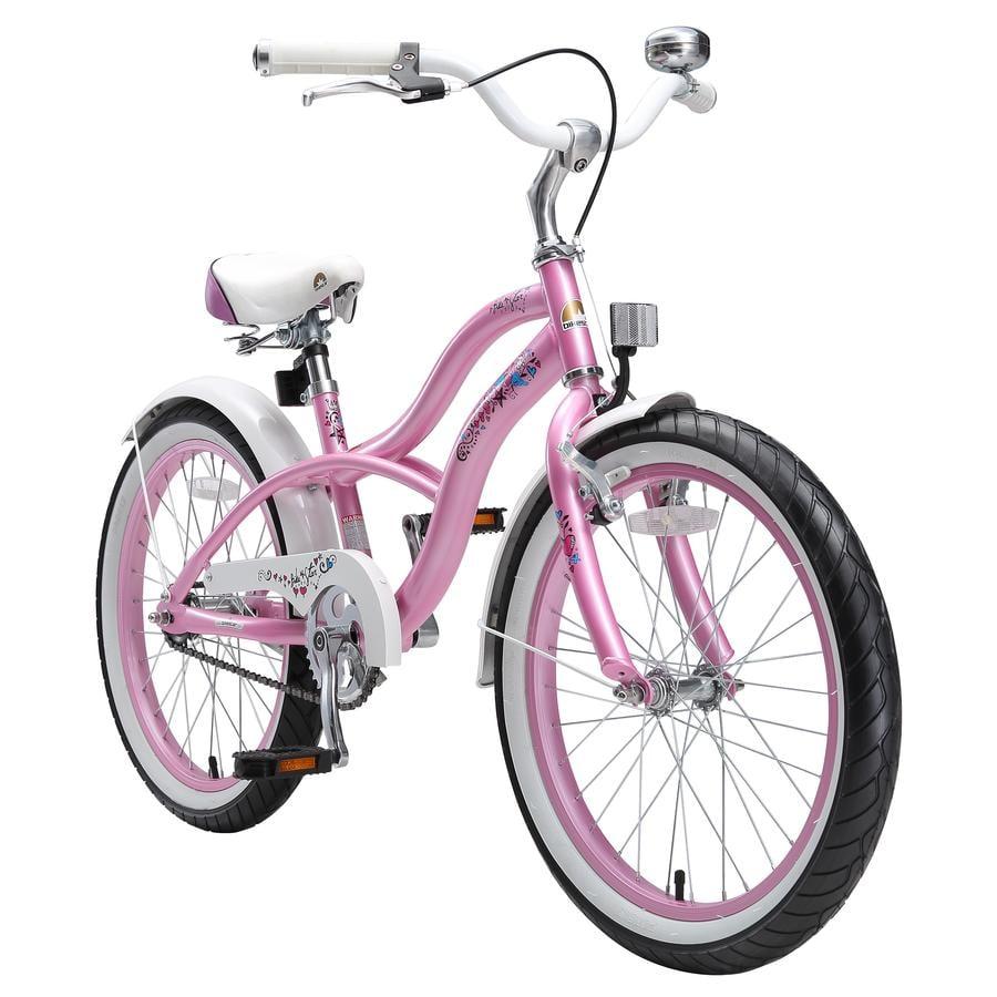 "bikestar Bicicleta infantil 20"" Cruiser Glamour rosa"