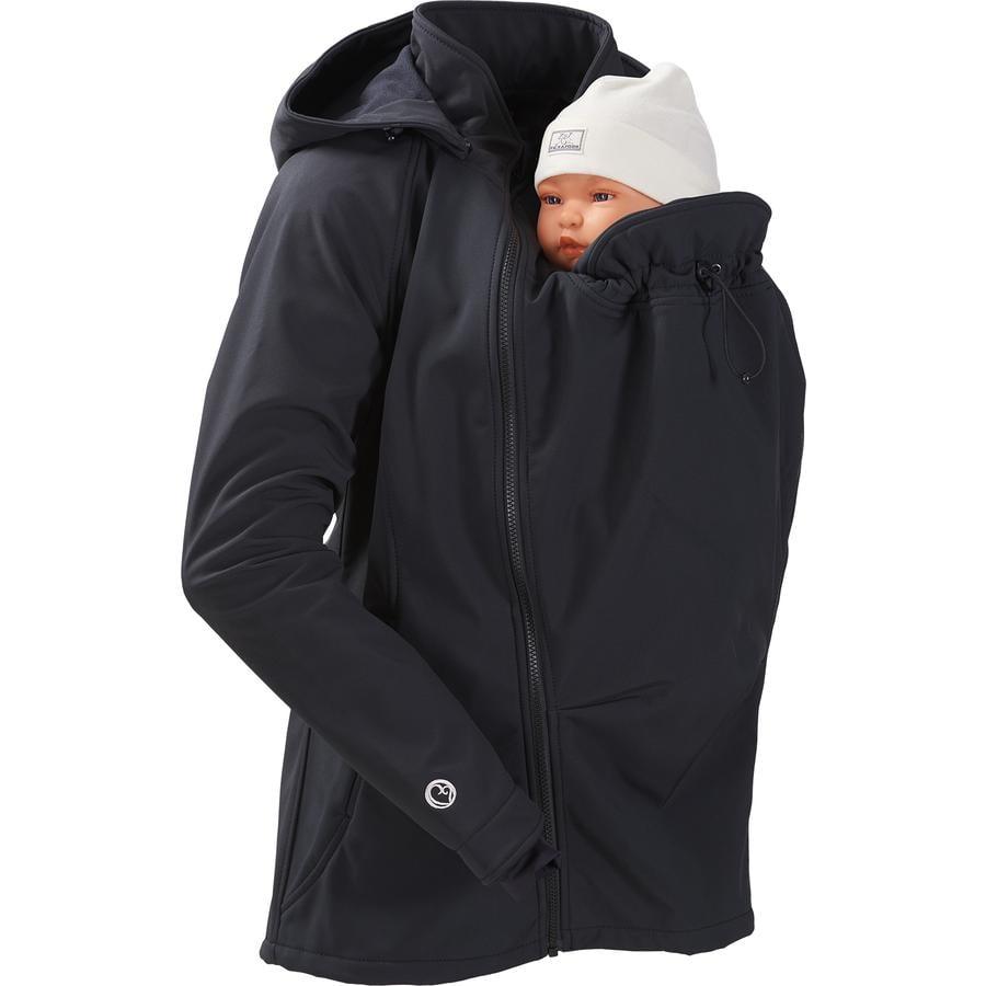 mamalila Softshell click z kurtką w kolorze czarnym.