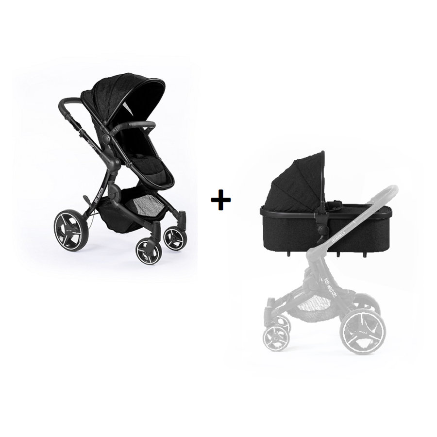 BABY MONSTERS Barnevogn Premium 2.0 Black