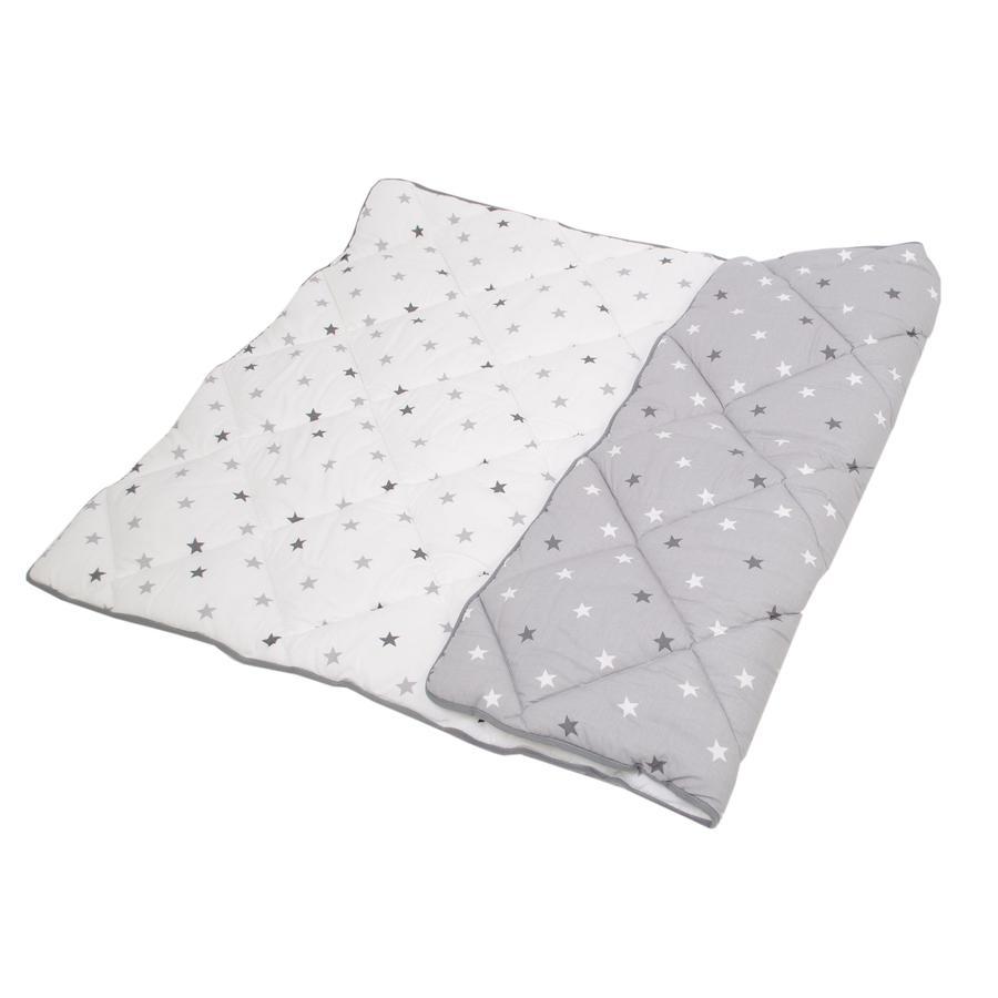 HOBEA Couverture bébé étoiles gris/blanc 160x100 cm