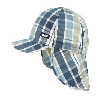 Döll Gorra de béisbol para niños con protección en el cuello azul adriático