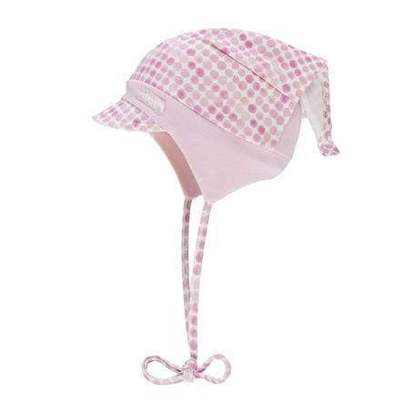 Döll Girls czapka z chustą z różową panią na czubku głowy