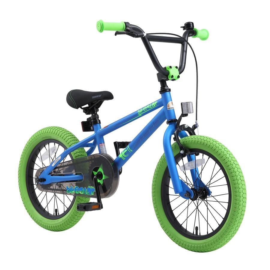 """bikestar Barncykel 16"""" BMX blå/grön"""