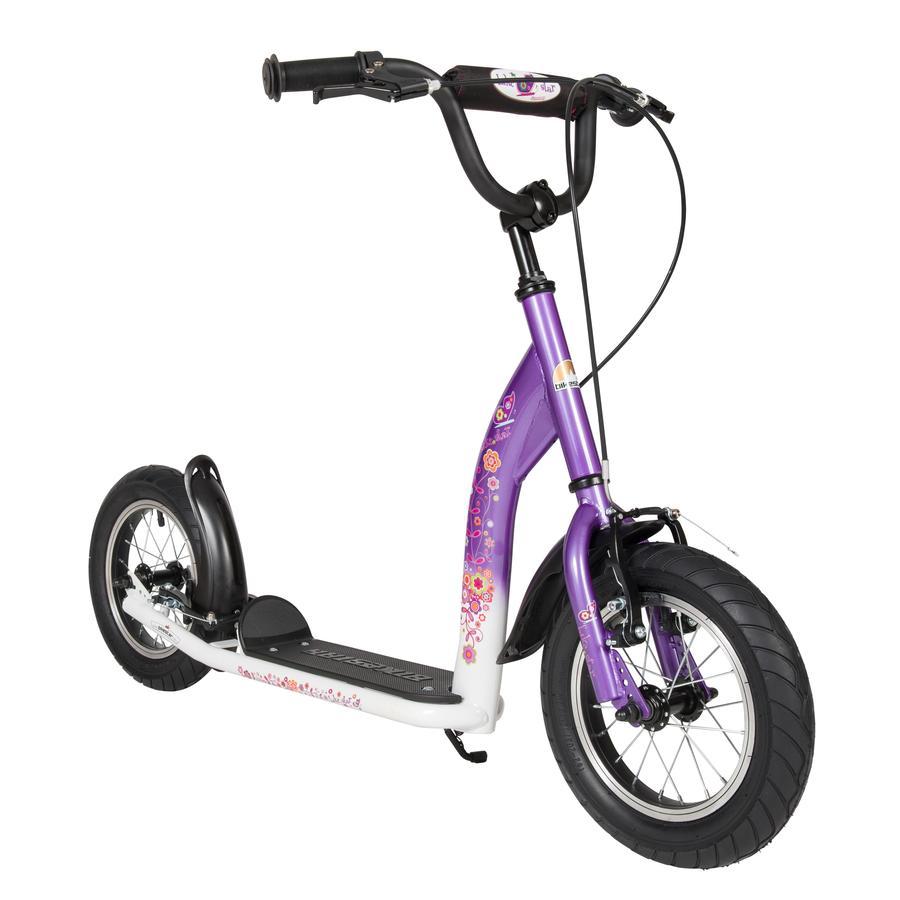 "bikestar Kinderroller 12"" Sport Candy Lila & Diamant Weiß"