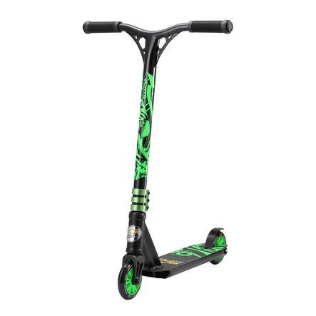 bikestar STAR-SCOOTER® Freestyle Mini Stuntscooter Action, schwarz/grün