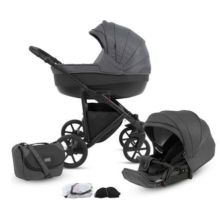 knorr-baby Kombikinderwagen Madeira 11-teiliges Set Grau