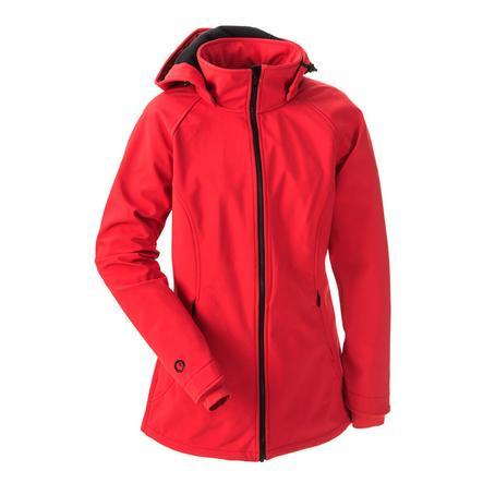 mamalila Softshell click z kurtką w kolorze czerwonym.