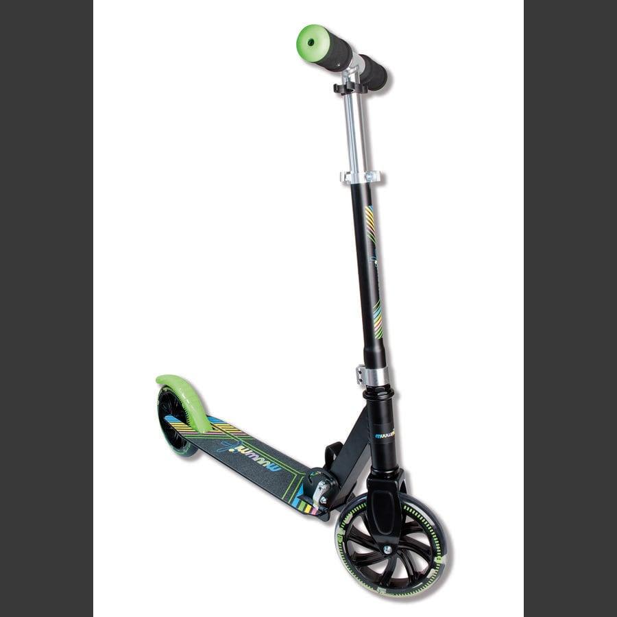 AUTHENTIC SPORTS Aluminium Scoot Muuwmi NEON 180 mm med oplyste hjul, farvet