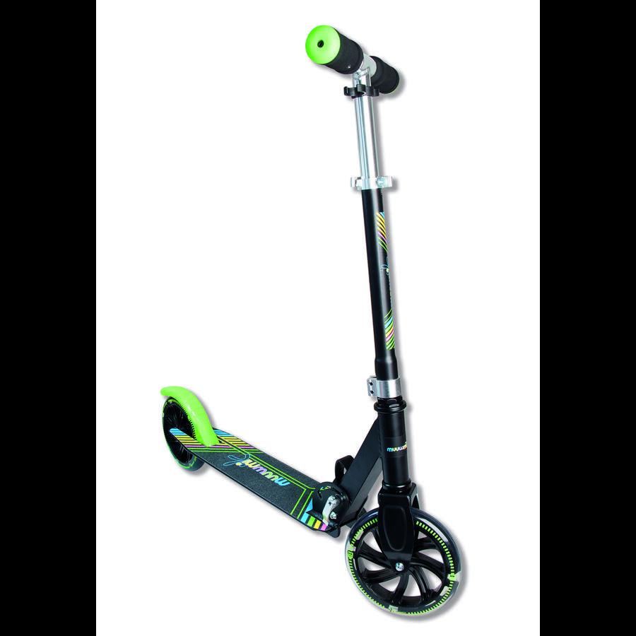 AUTHENTIC SPORTS Aluminium Scoot Muuwmi NEON 180 mm med opplyste hjul, farget