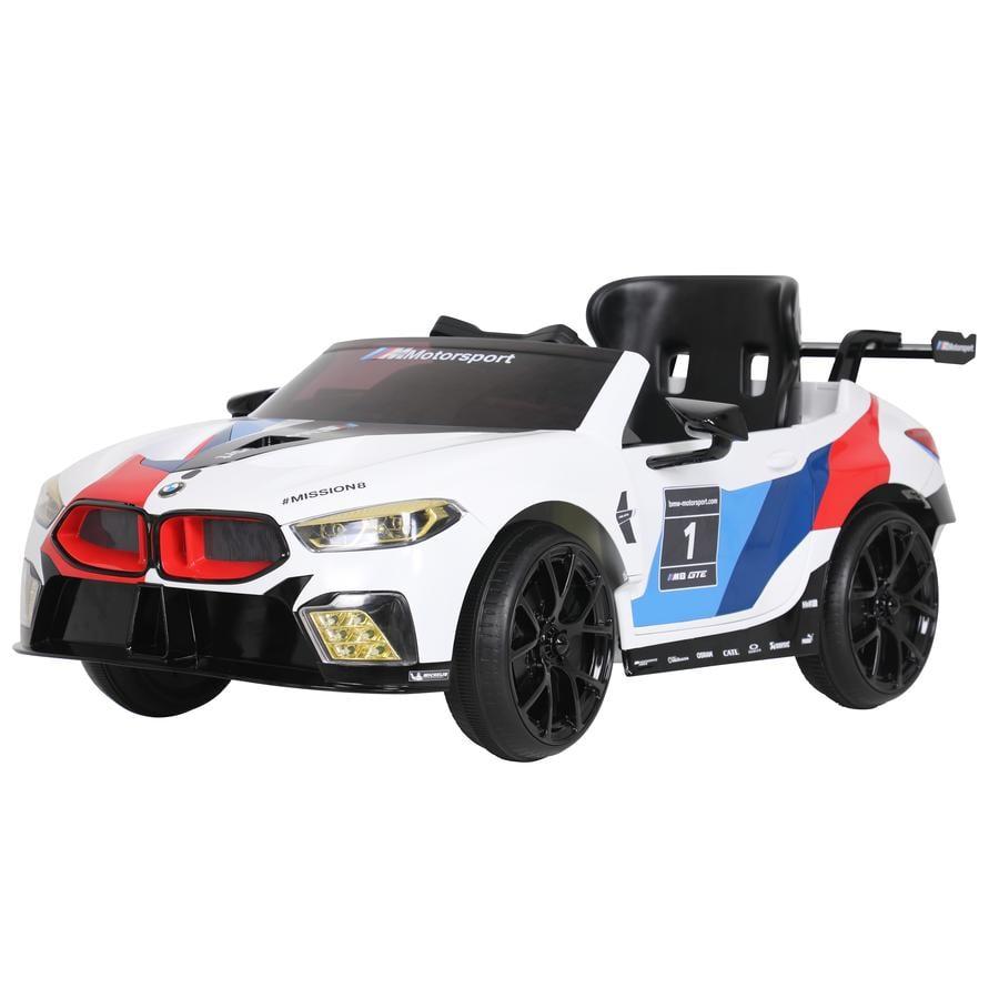 ROLLPLAY BMW M8 GTE Racing 12V, weiß