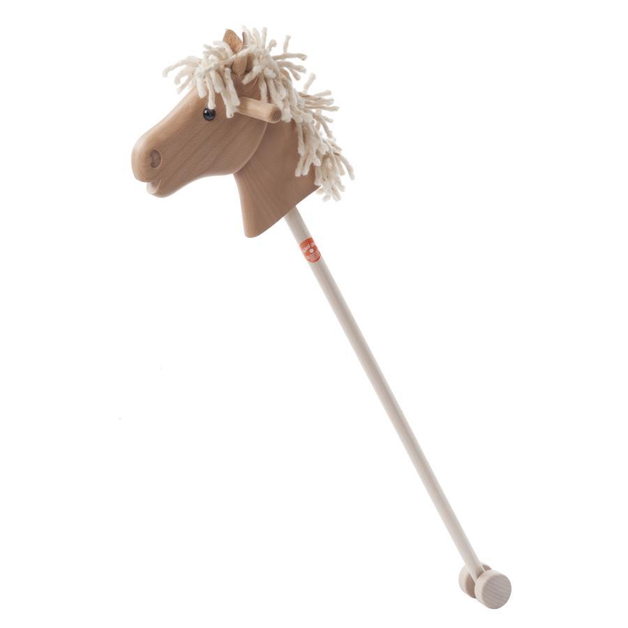 Helga Kreft Bâton à chevaucher cheval enfant Haflinger bois