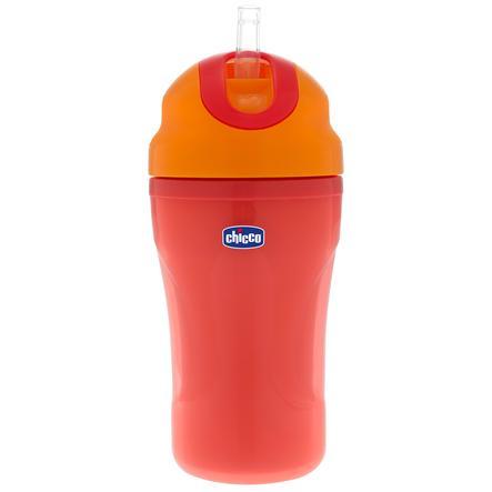 CHICCO Butelka ze słomką 18m+ kolor czerwony