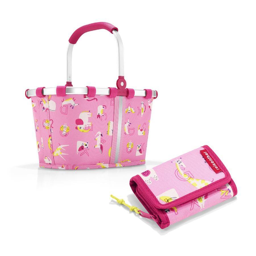 reisenthel bæreveske XS barn + lommebok S i abc venner rosa