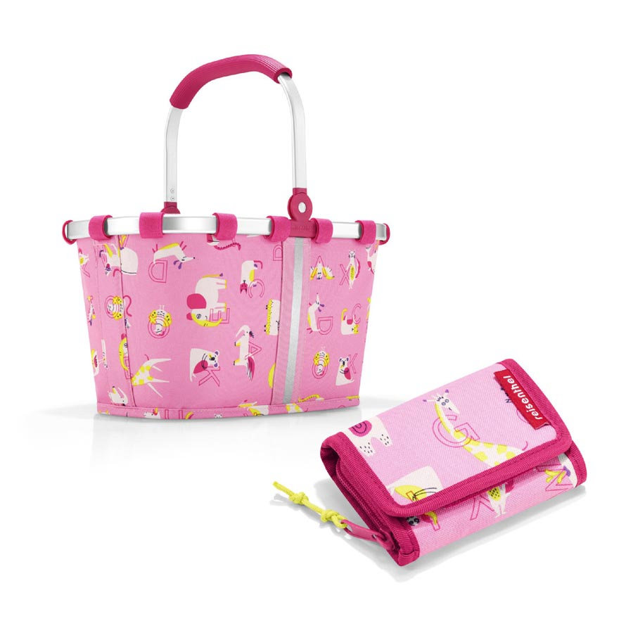 reisenthel® carrybag XS kids + wallet S in abc friends pink