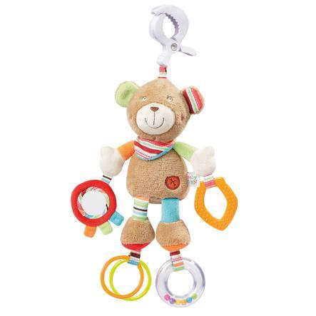 fehn® Activity-Teddy mit Klemme Oskar