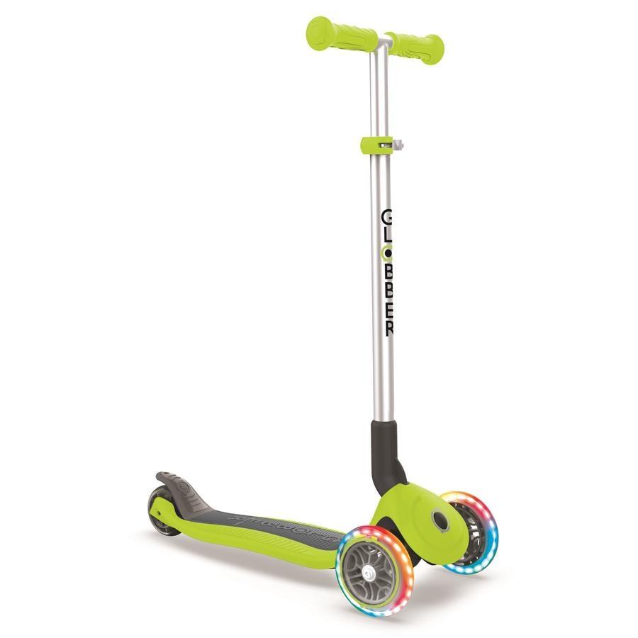Globber Scooter Primo Foldable mit Leuchtrollen, grün