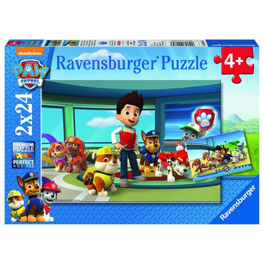 Ravensburger Puzzle 2x 24 Teile - Paw Patrol: Hilfsbereite Spürnasen