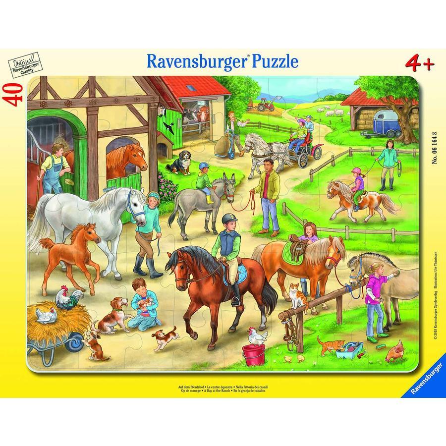 Ravensburger Rahmenpuzzle, 40 Teile - Auf dem Pferdehof