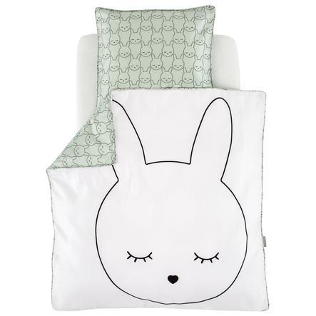 Träumeland Biancheria da letto coniglietto coccoloso 80x80cm