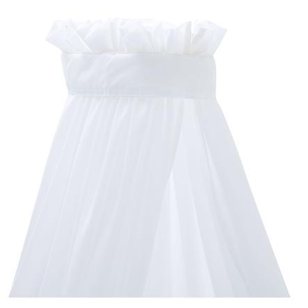 Träumeland Ciel de lit enfant uni blanc 180 cm