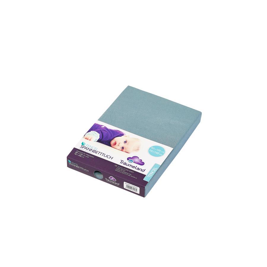 Träumeland Spannbetttuch Tencel ozeanblau 60x120 cm + 70x140 cm