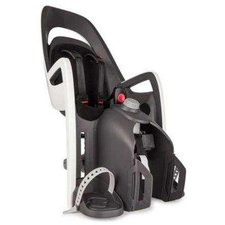 hamax Seggiolino per bicicletta Caress con adattatore per portapacchi grigio/bianco/nero