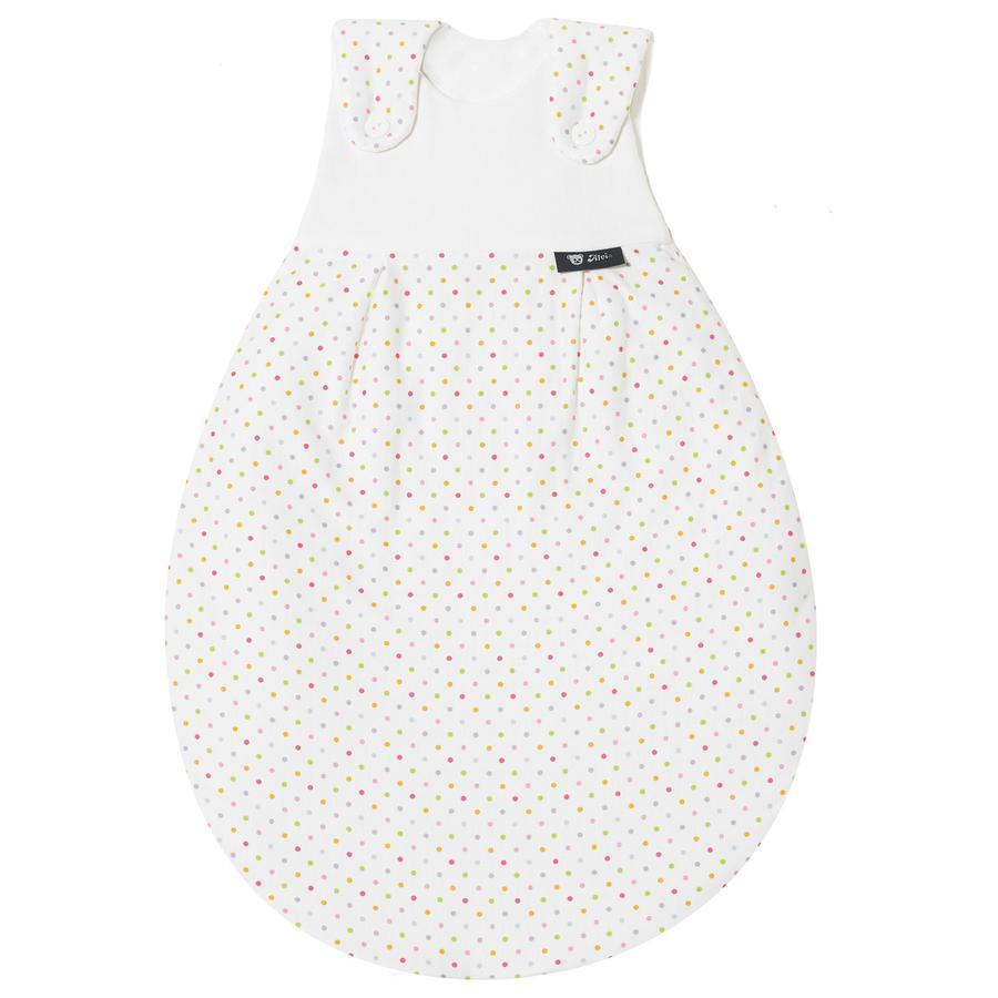 """ALVI Sacco esterno """"Baby Mäxchen"""" in cotone-Jersey macchie colorate - Misura:62/68 cm"""