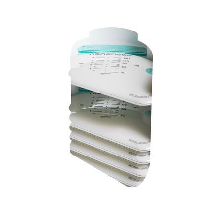 nanobébé - Brystmælk taske 25 stk med arrangør