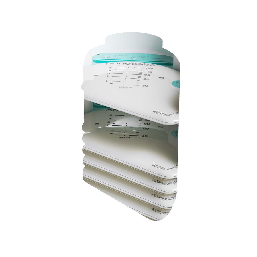 nanobébé - Muttermilch-Beutel 25 Stk mit Organizer
