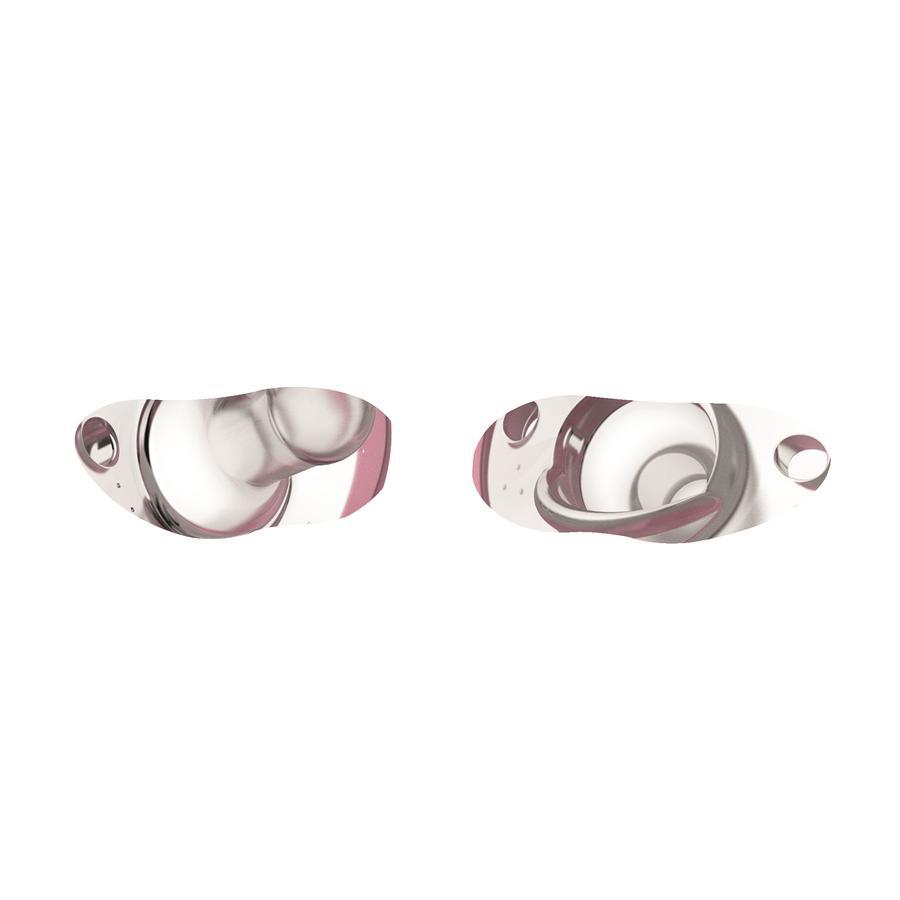 nanobébé Flexy Schnuller 2er Pack - 0-3m - rosa