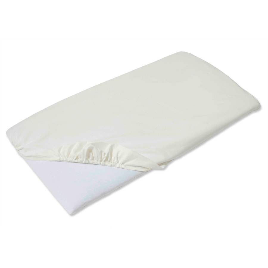 Easy Baby Fitted Sheet dream & drive, ecru, 90 x 60 cm